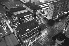 Cidade aérea de Auckland do scape da noite Fotografia de Stock Royalty Free