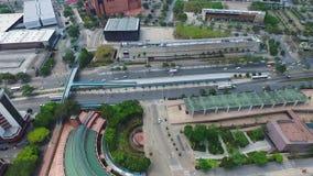 Cidade aérea do tiro de Medellin Colômbia filme