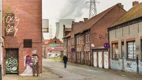 Cidade abandonada fotografia de stock