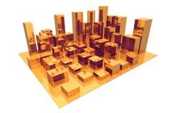 Cidade abstrata Imagens de Stock Royalty Free