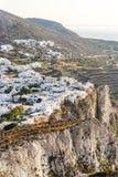 A cidade agradável de Chora em Folegandros Fotografia de Stock Royalty Free