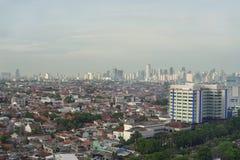 A cidade ajardina com construção do negócio e as casas residenciais Imagens de Stock