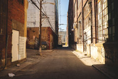 Cidade Allyway Fotografia de Stock