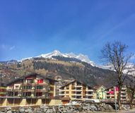 Cidade alpina catita imagens de stock royalty free