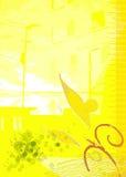 Cidade amarela Fotografia de Stock