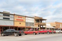 Cidade americana pequena em Texas fotografia de stock