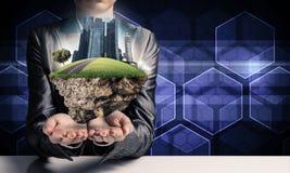Cidade amigável do eco moderno e conceitos da ecologia Imagem de Stock Royalty Free