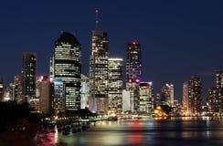 Cidade & rio de Brisbane Fotografia de Stock Royalty Free