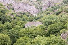 Cidade antiga da caverna de Khndzoresk Fotografia de Stock