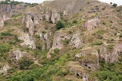 Cidade antiga da caverna de Khndzoresk Fotografia de Stock Royalty Free