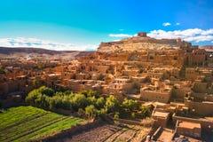 Cidade antiga de AIT Benhaddou em Marrocos Foto de Stock Royalty Free