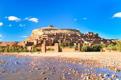 Cidade antiga de AIT Benhaddou em Marrocos Fotografia de Stock Royalty Free