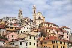 Cidade antiga de Cervo, Itália Imagens de Stock Royalty Free