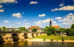 A cidade antiga de Dresden, Alemanha Imagens de Stock Royalty Free