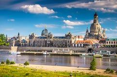 A cidade antiga de Dresden, Alemanha Imagens de Stock