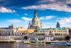 A cidade antiga de Dresden, Alemanha Fotos de Stock Royalty Free