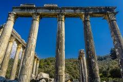 Cidade antiga de Euromus ou de Euromos Templo de Zeus Lepsinos Milas, Mugla, Turquia Kyromos, Hyromos fotos de stock