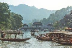 Cidade antiga de Fenghuang fotos de stock