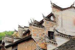 Cidade antiga de Fenghuang, como uma cidade histórica e cultural nacional, o primeiro grupo de condados fortes do turista em Chin fotografia de stock royalty free