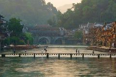 Cidade antiga de Fenghuang, Hunan, China Foto de Stock Royalty Free