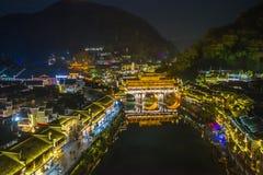 Cidade antiga de Fenghuang, a sudoeste da província de Hunan foto de stock