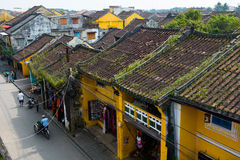 Cidade antiga de Hoian da vista alta em Vietname Imagens de Stock Royalty Free