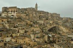 A cidade antiga de Matera foto de stock