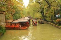 A cidade antiga de Nanxun no outono Imagens de Stock