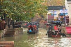 A cidade antiga de Nanxun no outono Imagem de Stock