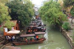 A cidade antiga de Nanxun no outono Fotos de Stock Royalty Free