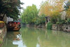 A cidade antiga de Nanxun no outono Fotografia de Stock