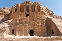 A cidade antiga de PETRA, Jordão. fotos de stock royalty free