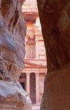 A cidade antiga de PETRA, Jordão. Imagens de Stock