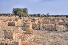 Cidade antiga de Sbeitla fotografia de stock