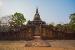 Cidade antiga de Sukhothai fotografia de stock