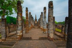 Cidade antiga de Sukhothai imagem de stock royalty free