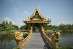 CIDADE ANTIGA DE TAILÂNDIA BANGUECOQUE SAMUT PRAKAN Fotografia de Stock Royalty Free