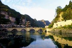 Cidade antiga de Zhenyuan da ponte do sonho de Guizhou fotografia de stock royalty free