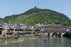 Cidade antiga do curso de Fenghuang em China Foto de Stock