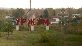 Cidade antiga do russo de Urzhum video estoque