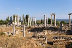 Cidade antiga dos Aphrodisias, museu dos Aphrodisias, Ayd? n, região egeia, Turquia - 9 de julho de 2016 Foto de Stock Royalty Free