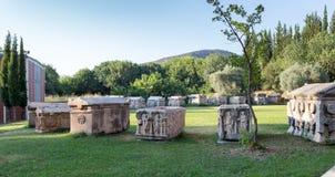 Cidade antiga dos Aphrodisias, museu dos Aphrodisias, Ayd? n, região egeia, Turquia - 9 de julho de 2016 Imagens de Stock Royalty Free