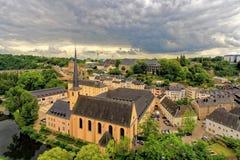 Cidade antiga em Luxemburgo central Foto de Stock Royalty Free