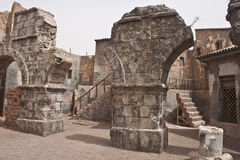 Cidade antiga em uma fase do filme Foto de Stock