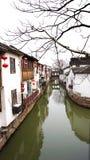 A cidade antiga famosa de China de suzhou Imagens de Stock Royalty Free