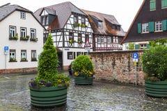 Cidade antiga Selingenstadt, Alemanha, arquitetura da cidade bonita Fotos de Stock Royalty Free