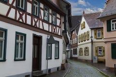 Cidade antiga Selingenstadt, Alemanha, cidade velha histórica Fotos de Stock Royalty Free