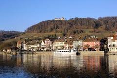 Cidade antiga suíça Stein am Rhein fotos de stock