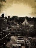 Cidade antiquado foto de stock