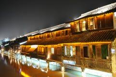 Cidade aquosa antiga chinesa Imagem de Stock Royalty Free
